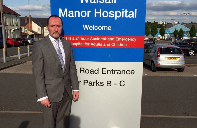 Eddie at Walsall Manor Hospital